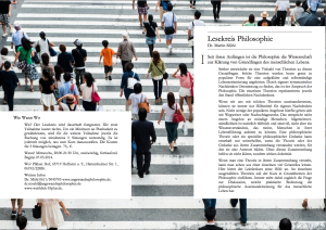 Flyer Lesekreis Philosophie